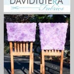 DT ribbon rose chair cover