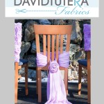 tutera chiffon chair cover